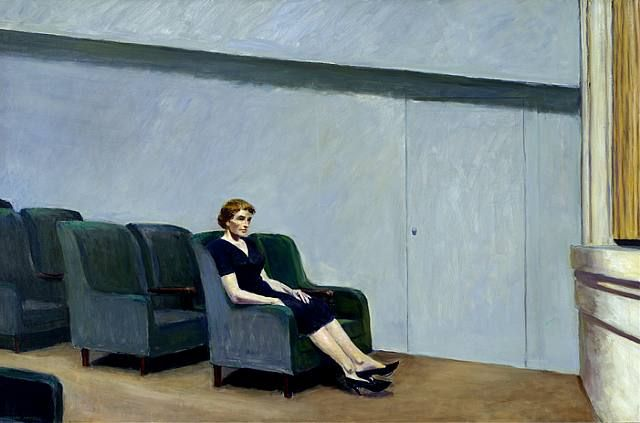 Flores y Palabras: Edward Hopper: Teatro y cine