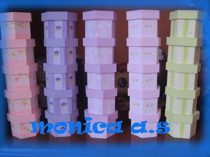 Cajas de trupan pintadas a mano para baby showers pro for Cajas pintadas a mano