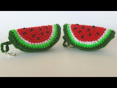 Portachiavi Anguria Uncinetto Tutorial - Watermelon Crochet (Eng Sub) Sandia Llaveros #portachiavi #anguria #uncinetto #tutorial #amigurumi #watermelon #crochet #pattern #sandia #melancia #croche #patron #llaveros #chaveiro