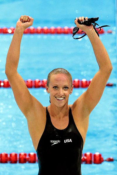 Dana Vollmer-all the women's olympic swimmers have the most ridiculous arm and back muscles I have ever seen