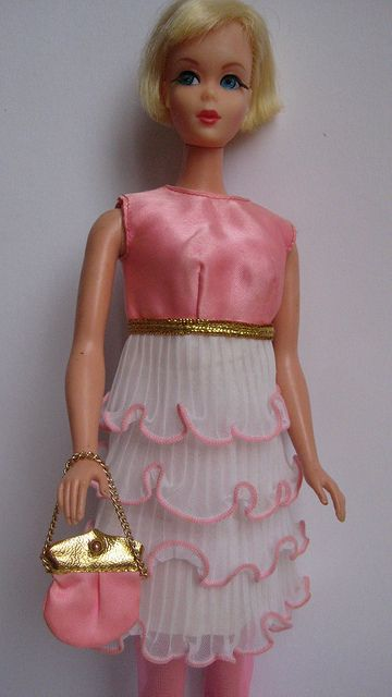 Hair Fair Barbie in Pink Premiere (1969) by wonderbarbie, via Flickr