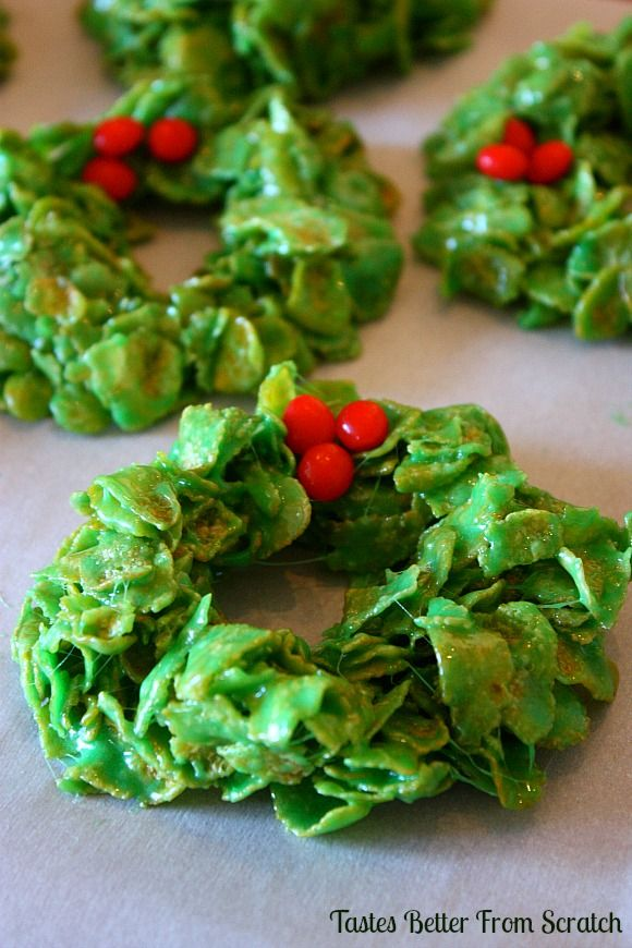 Christmas Cornflake Wreaths from TastesBetterFromScratch.com