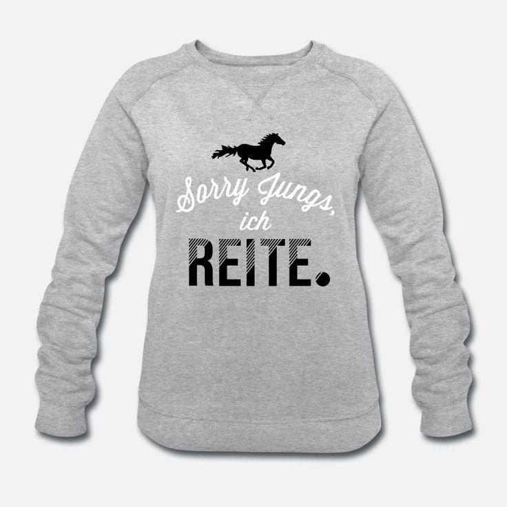 Sorry Boys – Horse Edition 2C Women Organic Sweatshirt by Stanley & Stella – Heather Gray