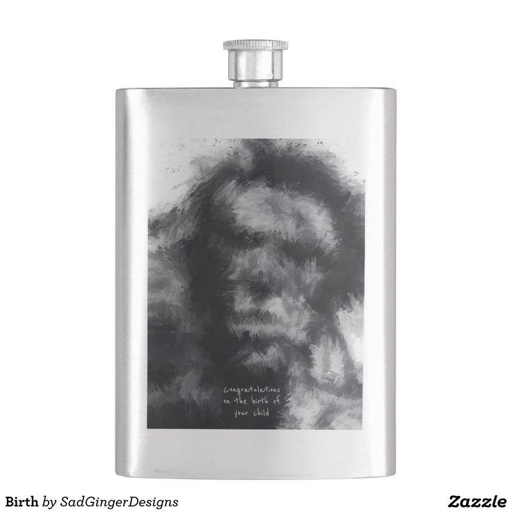Birth Flasks #darkart #art #drawing #illustration #funny #gingerart #mixedmedia #hipster #sadgingerdesigns #greetingsfromasadginger #greetingcards #specialoccasions #darkhumour #newdadflask #flask