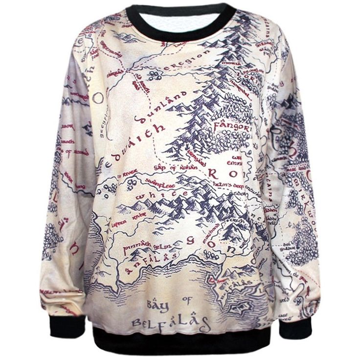 Autumn and Winter Women hoodies Fashion 3d Print Earth Map Pattern Casual Sweatshirt Long Sleeve   #Sale #You #Thank