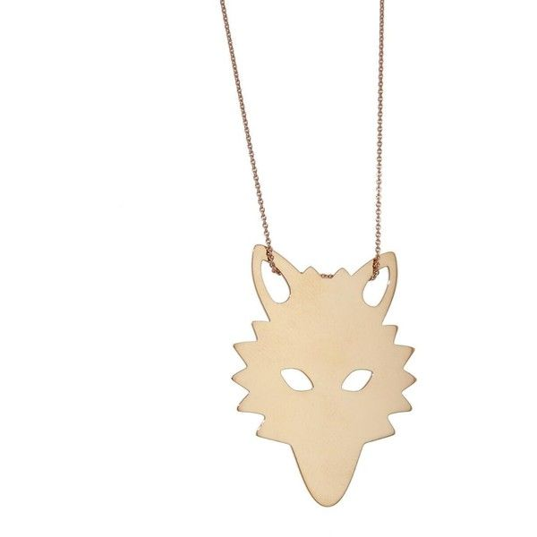 Ginette NY Wolf Necklace (€755) ❤ liked on Polyvore featuring jewelry, necklaces, rose, rose gold jewelry, adjustable necklace, chain necklaces, rose gold necklace and rose necklace
