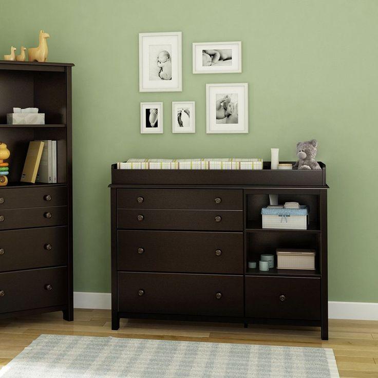 Baby Changing Table Station Nursery Furniture Bedroom Dresser Storage Wood New  | eBay