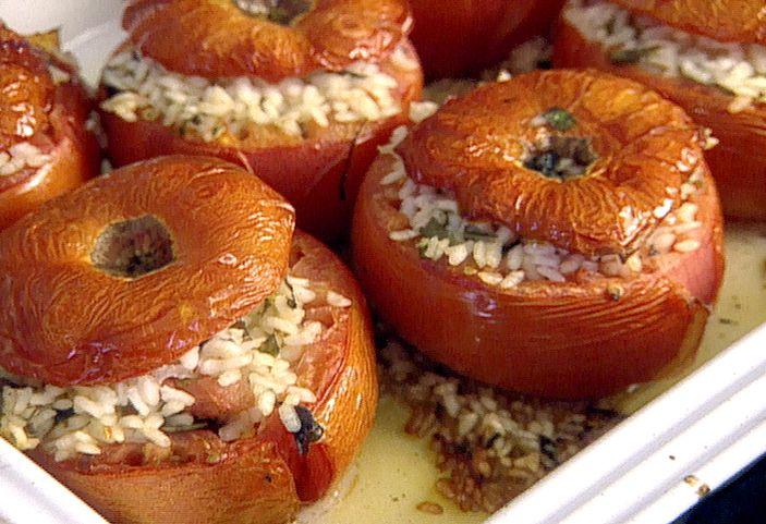 Tomatoes Stuffed with Rice Recipe : Giada De Laurentiis : Food Network - FoodNetwork.com