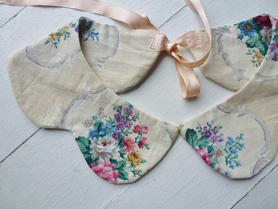 Col fleuri x: Collar Necklace, Collar Idea, Vintage Fabric, Craft, Style, Peter Pan Collars, Diy