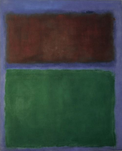 amare-habeo:  Mark Rothko (1903-1970) - Earth and Green, 1955 Museum Ludwig, Köln, Germany