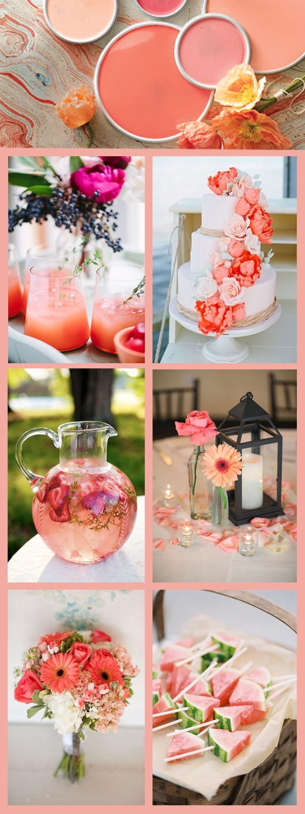 coral wedding color ideas for 2017