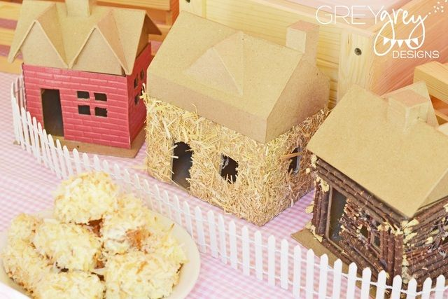 Three Little Pigs Birthday Party Ideas | Photo 12 of 46 | Catch My Party