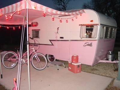 The pink winged warrior shasta travel trailer.....Steph you gotta get one of these!!