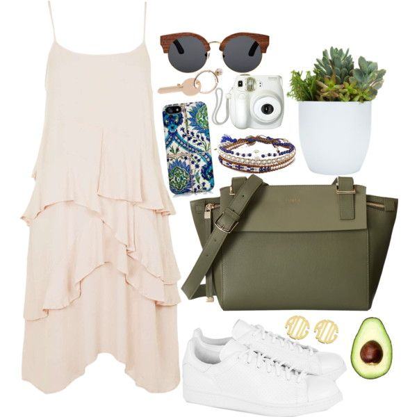A fashion look from July 2015 featuring Topshop dresses, adidas Originals sneakers and Furla shoulder bags. Browse and shop related looks.