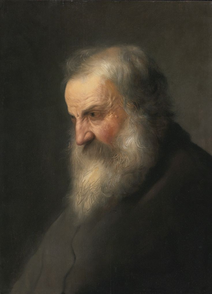 Attributed to Jan Lievens (LEIDEN 1607 - 1674 AMSTERDAM) -  HEAD OF AN OLD MAN, oil on panel, 23 1/8  by 16 7/8  in.; 58.7 by 42. 8 cm.