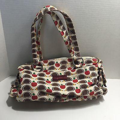 Hedgehog Apple Satchel Purse Bungalow 360 Vegan Cotton Natural Canvas Hand  Bag