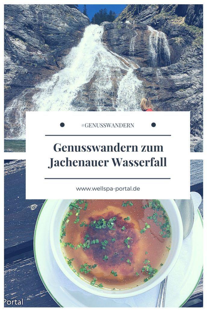Genusswandern in Bayern. Südlich von München im bayrischen Alpenvorland lässt es sich wunderbar am Jachenauer Wasserfall Genusswandern. Ausziet vom Alltag in den Bergen. #Wandern #Genusswandern #Outdoor #Auszeit #Wellness #Bayern
