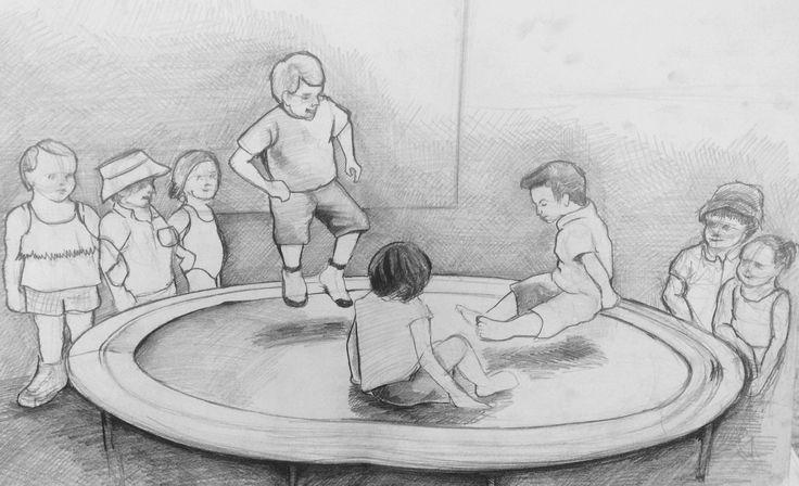 Trambolin ve çocuklar