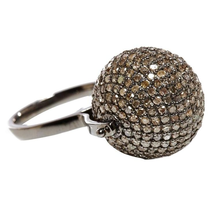 Jade Jagger Diamond Disco Ball Ring | From a unique collection of vintage cocktail rings at https://www.1stdibs.com/jewelry/rings/cocktail-rings/