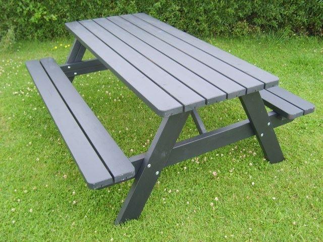 Picnic - malet, bord/bænke, parkmøbler i dansk design | BOEL