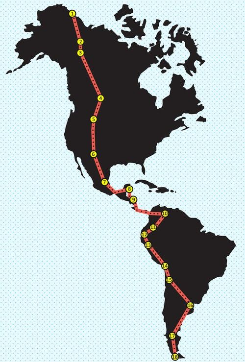 Two stops in Ecuador. All-American Road Trip: 18 Stops on the Pan-American Highway. Bucket List, look out. I