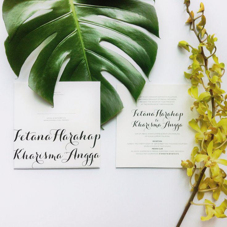 classic white wedding invitations of mine