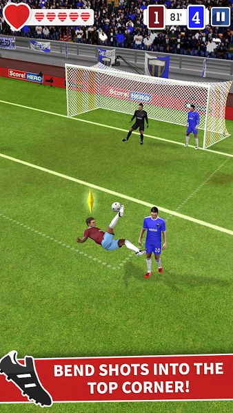 Score! Hero v1.55 [Unlimited Money/Energy]Requirements: 4.0 +Overview: Score! Hero, from the award winning makers of Score! World Goals, Dream League Soccer & First Touch Soccer.     BE A HERO! Pass, Shoot & Score your way to legendary status, as you explore the dramatic career of...
