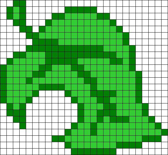 Animal Crossing Leaf Perler Bead Pattern / Bead Sprite