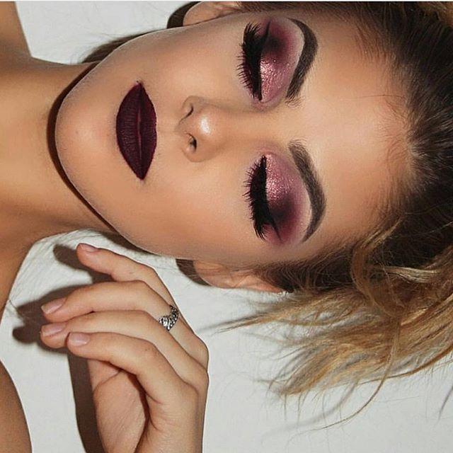 Best 25+ Maroon Makeup Ideas On Pinterest | Prom Makeup Prom Makeup Looks And Prom Eye Makeup