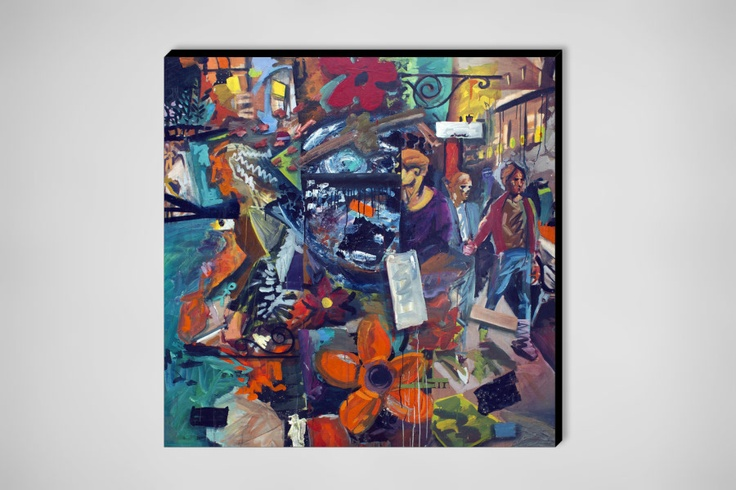 "Saatchi Online Artist: Bil Chamberlin; Oil, Painting ""Night Scene"": Oil Paintings, Paintings Night"