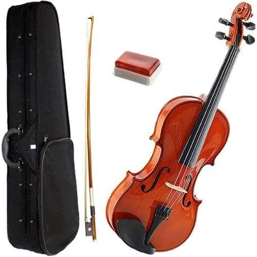 violino marinos 4/4 kit partitura afinador espaleira cordas
