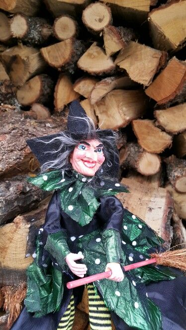 Befana getting some woods for the stove.