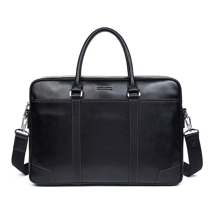 BOSTANTEN Leather Briefcase Messenger Business Bags Laptop Handbag for Men