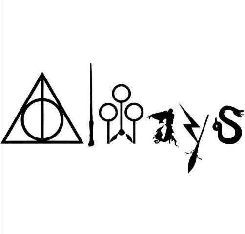 Harry Potter-Sempre com Símbolos-Janela do Vinil e Laptop Decal Adesivos de Parede 20x8 cm