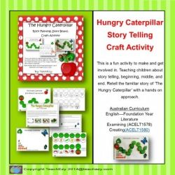 The Hungry Caterpillar Story Board, Craft & Rock Painting: 7 pages
