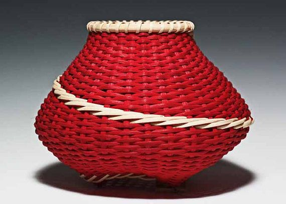 Signature Basket in red by JustaBunchofBaskets on Etsy, $500.00