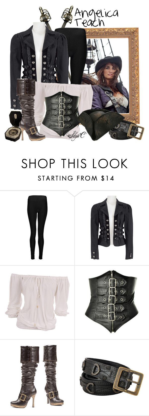 """Angelica Teach - Disney's Pirates of the Caribbean"" by rubytyra ❤ liked on Polyvore featuring Boohoo and Michael Kors"