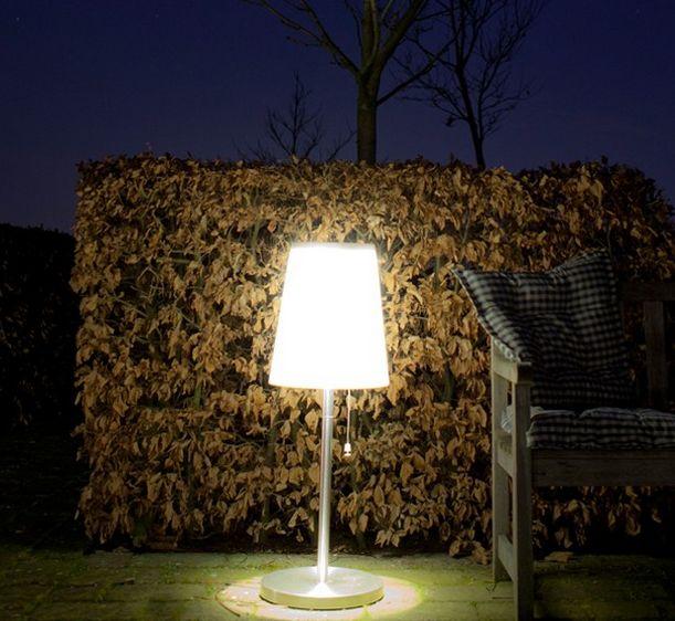Solar buitenverlichting 100cm LED tafel lamp Roots No.3
