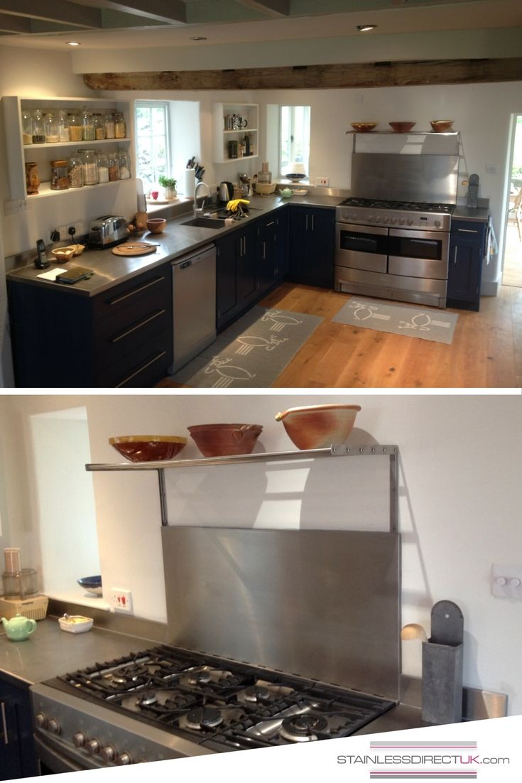 Today We Look Back At This Fabulous Kitchen Project We Did For Our Customer  Caroline. Her Kitchen Got A Make Over With A New Stainless Steel Workboard,  ...