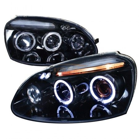 Spec-D LHP-GLF05G-TM | 2007 Volkswagen Golf Smoke Projector Headlights for Coupe/Sedan/Hatchback/Wagon