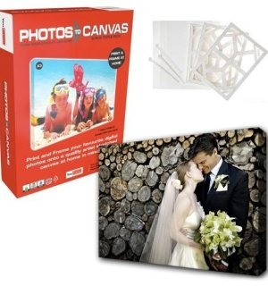Can't wait to try this - print photos on canvas at hom!