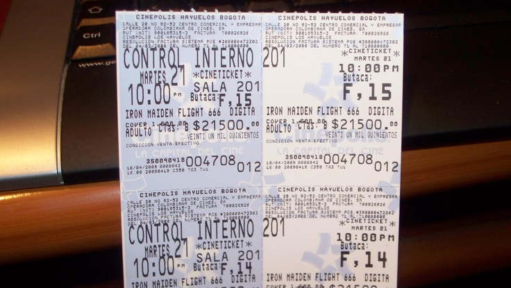 ticket de cine para premier del flight 666