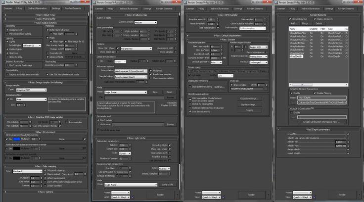 Medium Level Settings Vray Rendering Materials Settings Pinterest Medium