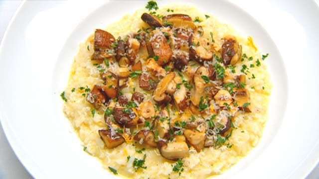 Death Dish Risotto with Braised Mushrooms, Hazelnuts and Parsley