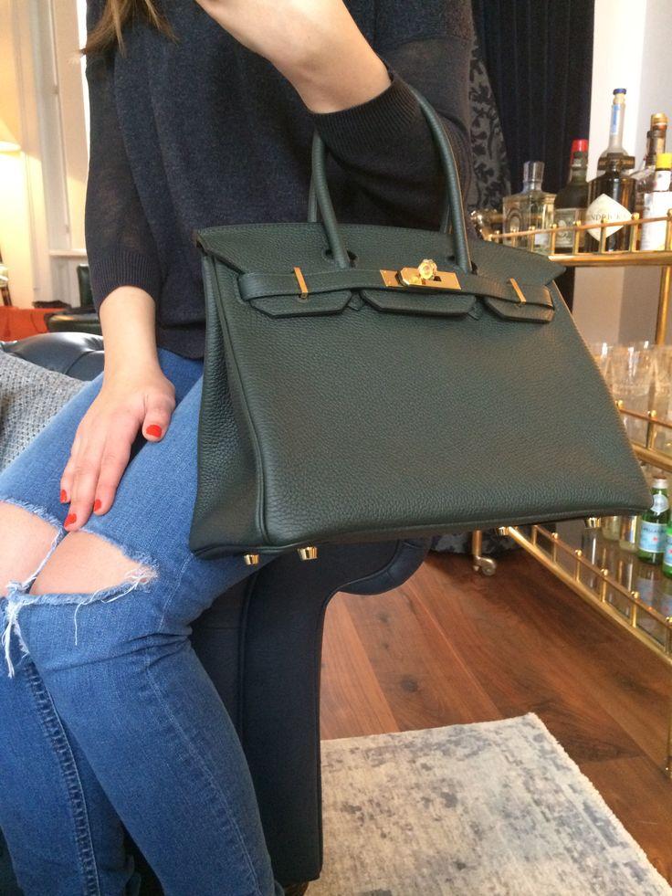 Hermes Birkin Bag 30cm Glycine with Gold Hardware Never Carried