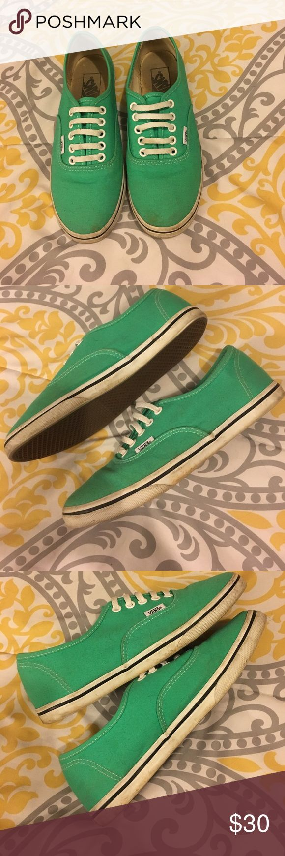 Mint Vans Lo Pro Size 7.5. Loved but no holes in the canvas. Haven't tried to clean them. Vans Shoes Sneakers