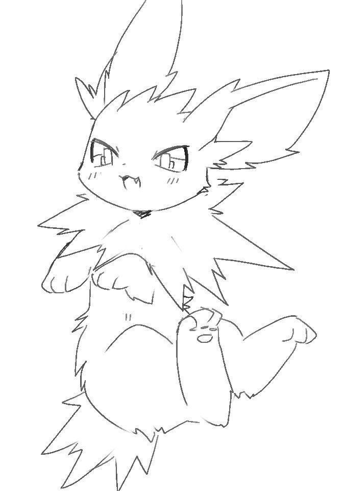 Jolteon Image Pokemon Drawings Pokemon Eevee Cute Pokemon