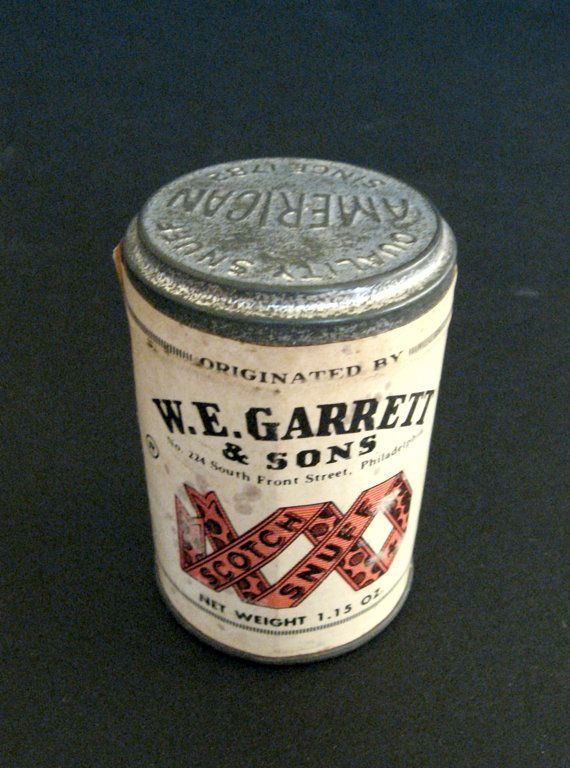 Holiday Sale Vintage W E Garret Amp Sons Scotch Snuff