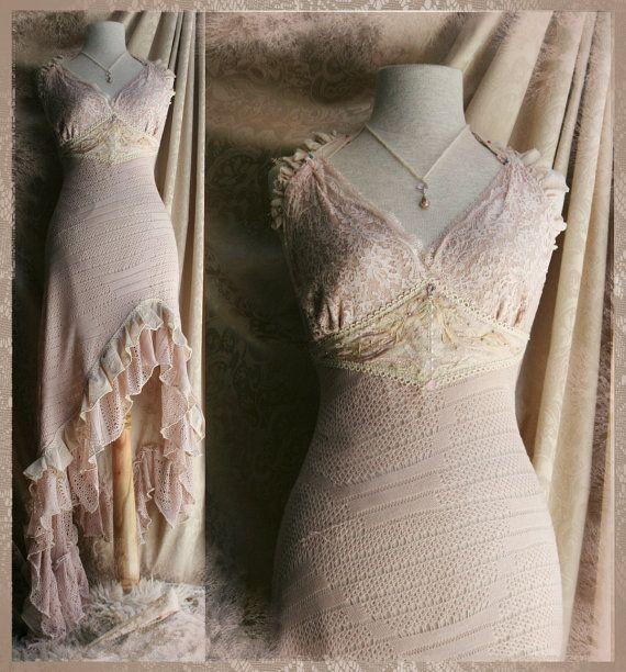 Aurora Natural Wedding Dress by Moonalia on Etsy, $476.19