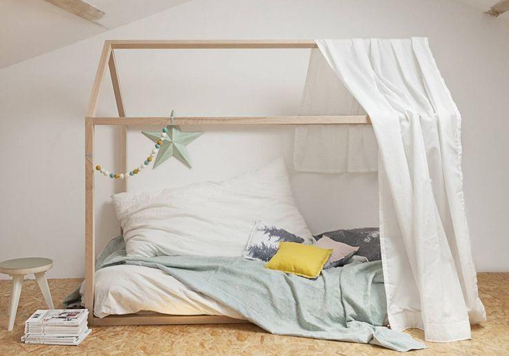 best 25 lit cabane ideas on pinterest lit barreaux. Black Bedroom Furniture Sets. Home Design Ideas